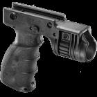Рукоятка передняя на Weaver/Picatinny, с держателем фонаря 25.4 мм, пластик, FAB Defense, T-GRIP