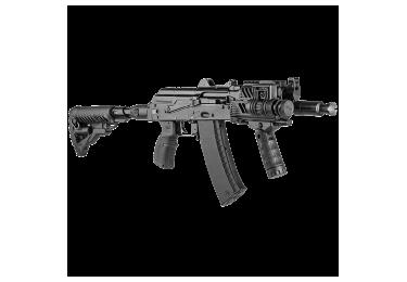 Приклад для АКСУ или АКС-74У складной (вместо складных), телескопический, компенсатор отдачи, FAB Defense M4-AKS P SB