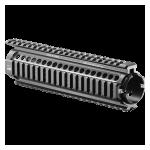 Кронштейн цевье с 4 планками типа вивер для M4/M16/AR15 и совместимых Fab Defense NFR-M5, алюминий (черный)