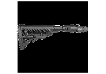 Приклад для АКМС складной, телескопический, пластик, компенсатор отдачи, FAB Defense M4-AKMS P SB