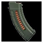Магазин 7,62x39 мм (.30, .366 ТКМ) на 30 патронов для АК, Сайги и Вепрь 133,136 Fab Defence Ultimag AK30R (зеленый)