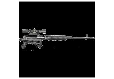 Приклад для Тигр, СВД складной (вместо нескладных) телескопический, компенсатор отдачи, FAB Defense M4-SVD-SB
