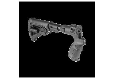 Приклад для Mossberg 500, телескопический, рукоятка, пластик, компенсатор отдачи, складной, FAB Defense AGMF 500 FKSB