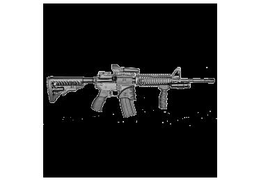 Кронштейн цевье с 4 планками типа вивер для M4/M16/AR15 и совместимых Fab Defense NFR, алюминий (черный)