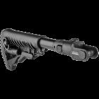 Приклад для АКМС складной, телескопический, пластик, FAB Defense M4-AKMS P