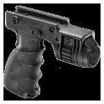 Рукоятка передняя на Weaver/Picatinny, с держателем фонаря 25.4 мм, пластик, FAB Defense, T-GRIP-R