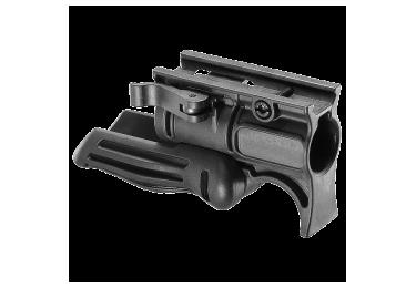 Рукоятка передняя на Weaver/Picatinny, с держателем фонаря 25.4 мм, складная, быстросьемная, пластик, FAB Defense, FFGS-1