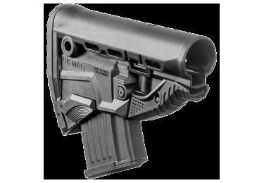 Задник телескопического приклада, пластик, магазин АК на 10 патронов, FAB Defense, GK-MAG