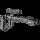Приклад для АКМС складной, пластик, встроена щека, FAB Defense UAS-AKMS P