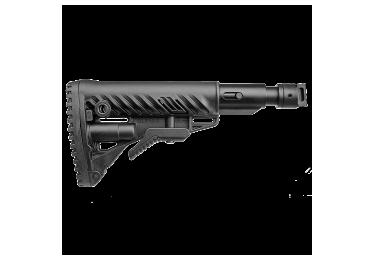 Приклад для АК, Сайга вместо складных, телескопический, компенсатор отдачи, FAB Defense M4-SAIGA SB