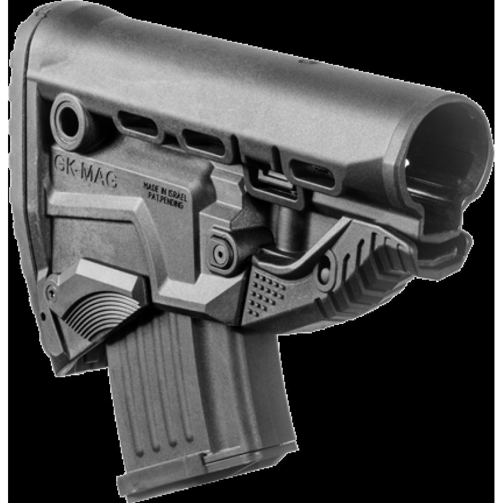 Задник телескопического приклада, пластик, магазин АК на 10 патронов, FAB Defense, FD-GK-MAG